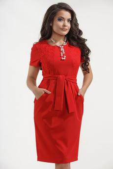 Платье с поясом в офисном стиле Liora