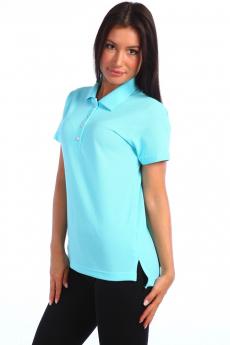 Женская футболка поло голубая Натали