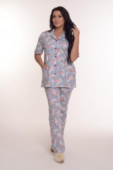 Серая пижама с фламинго Modellini