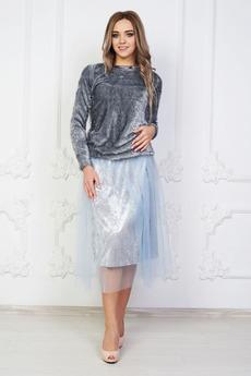 Серебристая юбка Angela Ricci
