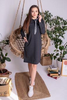 Черное спортивное платье ElenaTex